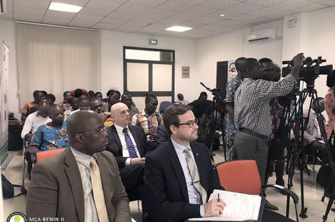 Conférence de presse bilan 2017 - vue de l'assistance