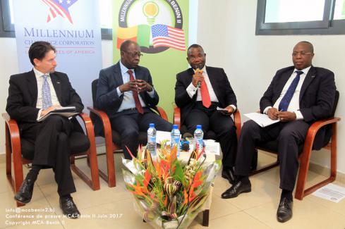 Conférence de presse avant entrée en vigueur du MCA-Bénin II